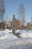 Monument to the composer Rimsky-Korsakov in the town of Tikhvin — Stock fotografie