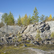 "Autumn day in mountain Park ""Ruskeala"". Karelia — Stock Photo #36828873"