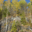 "October in the mountain Park ""Ruskeala"". Karelia — Stock Photo"