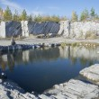Quarry marble breakdowns (Italian quarry). Ruskeala, Karelia — Stock Photo