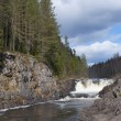 Spring day on the waterfall Kivach. Karelia — Stock Photo
