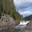 Stock Photo: Spring day on waterfall Kivach. Karelia