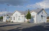 The building of the old railway station. Mikkeli, Finland — Stockfoto