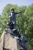 Monumento ao almirante makarov em kronstadt — Fotografia Stock
