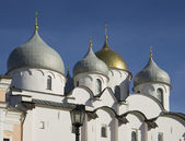 View of the dome of St. Sophia Cathedral. Veliky Novgorod — Stock Photo