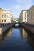Morning in the Winter canal. Saint-Petersburg — Stock Photo