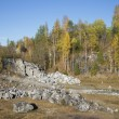 Stock Photo: Old marble quarries autumn day. Karelia