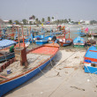 Fishing boats in the fishing harbour. Hua Hin, Thailand — Stock Photo