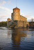 Olavinlinna castle in the late autumn. Finland — Stock Photo