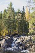 Autumn falls Ahvenkoski. Karelia — Foto de Stock