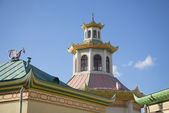"Roofs ""Chinese village"". Tsarskoe Selo, St. Petersburg — Stock Photo"