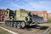 Pitting machine MDK-2 in the artillery Museum in St. Petersburg — Stock Photo