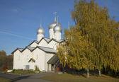 Die Kirche von Boris und Gleb in die Zimmerleute September sonniger Tag. Großes Nowgorod — Stockfoto