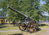 French 155-millimeter cannon K-77 model 1877 in Hamina. Finland — Stock Photo