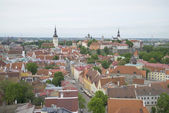 View of the old city cloud on a summer morning. Tallinn — Stockfoto