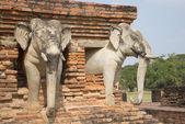 Elephants Wat Sorasak. Thailand — Foto Stock