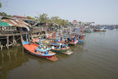 In the fishing port town of Cha-am. Thailand — Stock Photo