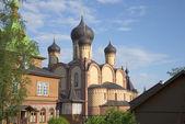 假设大教堂圆顶视图。pukhtitsky 东正大 stauropegial 修道院 — 图库照片