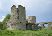 At the foot of the southern gate tower. Koporye fortress — Stock Photo