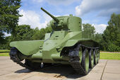 Soviet wheeled caterpillar fast tank BT-5 — Stock Photo