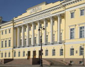 The Central entrance of the constitutional court of the Russian Federation. Saint-Petersburg — Stock Photo