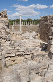 The ruins of the ancient baths in Salamis. Northern Cyprus — Stock Photo