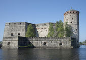 Olavinlinna Castle. View from the Bastion of the water gate — Stock Photo