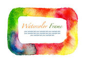 Watercolor frame isolated — Stock Photo