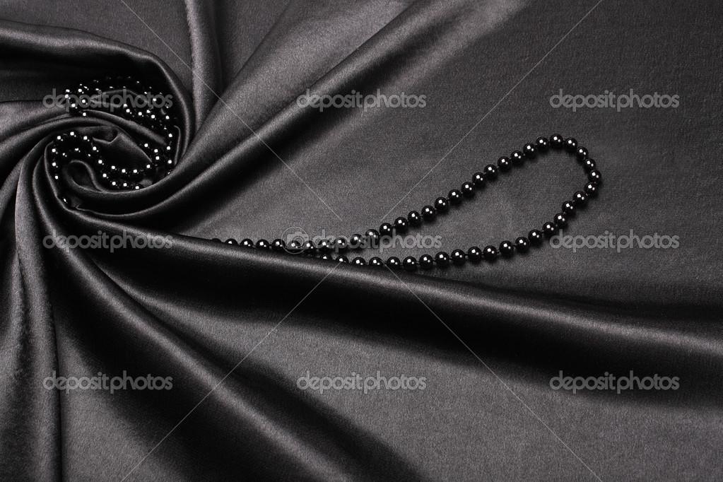 Black Fabric Background Black Silk Fabric Background