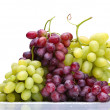 Fresh green and rose grapes — Stock Photo