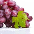 Fresh rose grapes with leaf — Stock Photo