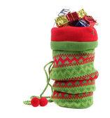 Christmas bag with gifts — Stock Photo