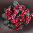 Stock Photo: Christmas wreath with berries
