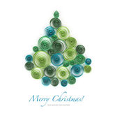 Curling paper Christmas tree — 图库照片