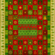 Christmas ornament carpet — Foto de Stock