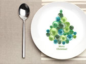 Plate with christmas tree — Stock Photo