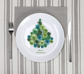 Plate with christmas tree — Stockfoto