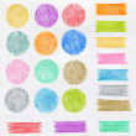 Set of color pencil design elements — Stock Photo #30408041