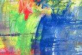 Abstrato acrílico texturizado fundo pintado — Foto Stock