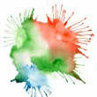 Abstract color watercolor blot background — Stock Photo #30641597