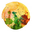 Abstract watercolor painting blot background — Stock Photo