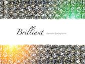 Brilliant diamond background — Stock Photo