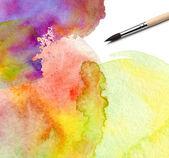 Aquarela abstrata pintado o fundo — Foto Stock