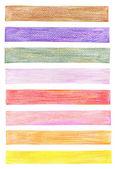 彩色铅笔图形元素集 — 图库照片
