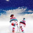 Two snowman — Stock Photo