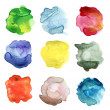 Set of abstract color watercolor blot — Stock Photo #32272227