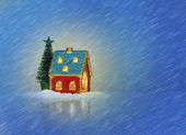 Christmas house — Stock Photo