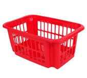 Empty red plastic basket — Foto de Stock