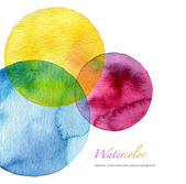 Abstract watercolor circle painted background — Stock fotografie