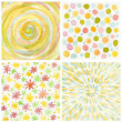 Set of abstract watercolor hand painted background. Paper textur — Stock Photo
